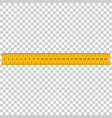yellow ruler instrument of measurement vector image