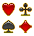 Card suits buttons set vector image