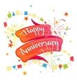 Happy anniversary festive ribbon vector image