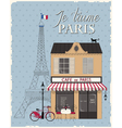 Paris card vector image