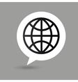 globe map pointer icon vector image