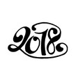2018 lettering vector image vector image