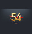 54th year anniversary background vector image vector image