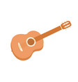 acoustic guitar cartoon style for poster vector image