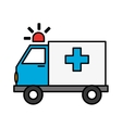 ambulance vehicle icon vector image vector image