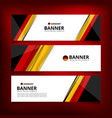 banner flag of german vector image