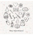 Biology or Medicine Science Background vector image vector image