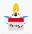 bulb with battery charging vector image vector image