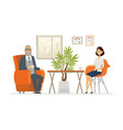 business consultation - modern cartoon vector image vector image