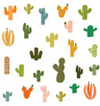cactus plant seamless pattern cacti flower vector image