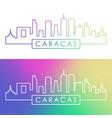caracas skyline colorful linear style editable vector image vector image