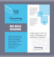 cart company brochure title page design company vector image vector image