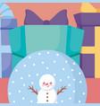 cartoon snowman design vector image