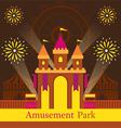 Castle Amusement Park Carnival Fun Fair vector image vector image