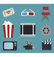 cinema entertainment design vector image