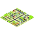 City Isometric map vector image vector image