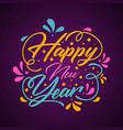 colorful decoration letter happy new year vector image vector image