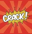 crack wording sound effect vector image vector image