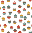 Cupcakes seamless pattern vector image vector image