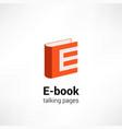 e -book icon concept vector image vector image