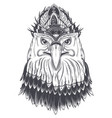 eagle head with feather comb vector image vector image