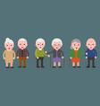 elderly grandma and grandpa couple icon flat vector image vector image