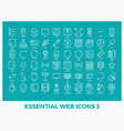 essential mixed web icons vector image vector image