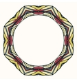 Ethnic round mandala ornamental frame abstract vector image vector image