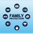 family protection card vector image