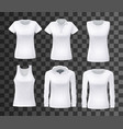 female shirt or top clothes mockup isolated vector image