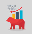 financial stock market vector image