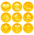 game gold coins vector image vector image