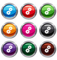 gear set 9 collection vector image vector image