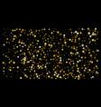 gold stars confetti celebration vector image vector image