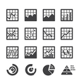 graph icon set vector image