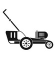 grass cutter icon simple style vector image vector image
