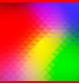 green blue orange red rows of triangles vector image vector image