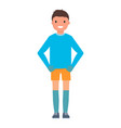 happy goalkeeper icon flat style vector image
