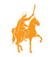 horseback vector image