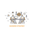 icon business 0b team strategy vector image