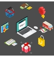 Isometric of online shopping with vector image vector image