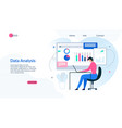 landing page presents effective data analysis app vector image