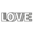 love word made modern style vector image vector image