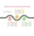 navigation map infographics 3 steps timeline vector image vector image