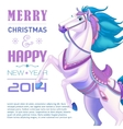 New Year Card for Year of the horse vector image