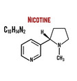 nicotine molecular structural chemical formula vector image