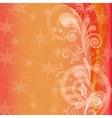 Orange holiday background vector image