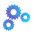 polygon blue icon gear vector image vector image
