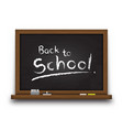 realistic black color chalkboard with wooden vector image