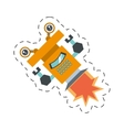 robot operator technology artificial cutting line vector image vector image